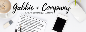 Gabbie + Company Logo Front Page